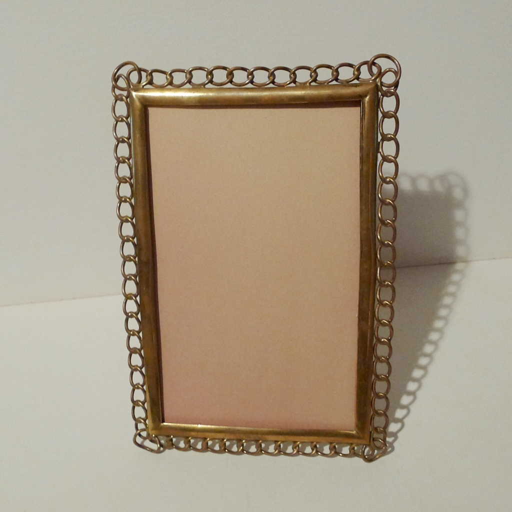 """English Brass """"Ring"""" Cabinet Card Picture Frame ca. 1890"""