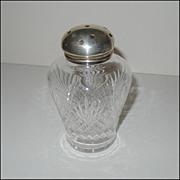 STERLING Top Cut Glass Muffineer [Sugar Shaker] Vintage