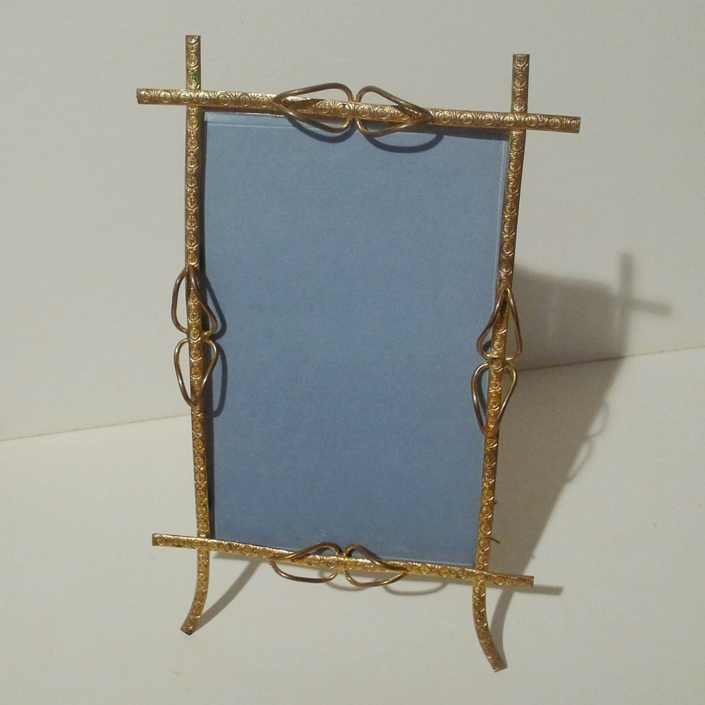 English DORE  Brass Picture Frame w/Beveled Glass 1880