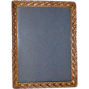 Gold-Plated American Brass Frame Pat'd. 1900/1901