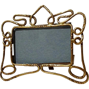 ANTIQUE Miniature Horizontal Art Nouveau English Brass Frame