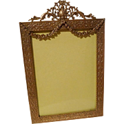 """ANTIQUE """"French Style"""" Garland Picture Frame Convex Glass"""