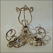 Silverplated Vintage EPERGNE Base w/Leaves