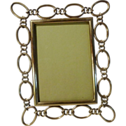 """Brass Oval RING Frame  English Antique  8 3/4"""" Tall"""