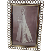 English BRASS RING Picture Frame Convex Liner