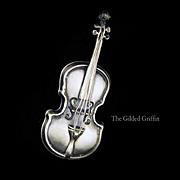 Vintage Cello Sterling Silver Brooch, Estate