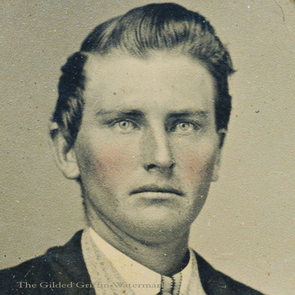 Civil War Tintype of Stylish Gent is Hand-Colored & Dated 1865 with Potter's Patent on Original Star Embossed Sleeve