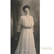 Rare Gibson Girl Style Van De Grift Portrait Photograph with Incredible Logo Illustration Engraving