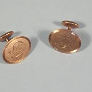 Vintage Edwardian Gold Filled Cuff Links