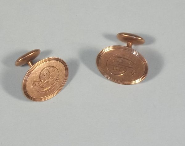Vintage Edwardian Gold Filled Cuff Links