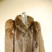 Beautiful let out Beaver and Sable Fur Jacket  Coat