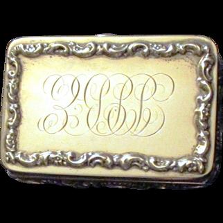 Mauser Sterling Silver Art Nouveau Fitted Cufflink Box