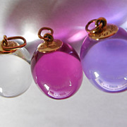 18K Gold Baccarat Tentation Crystal Pendants - 3 Pendants