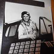 Original 8x10 Photo WWII Pilot David McCampbell Plane Official US Navy Photo