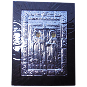950 Silver Byzantine Icon Wall Hanging