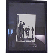 Framed Picasso Bullfight Wall Hanging 1961 France Postcard
