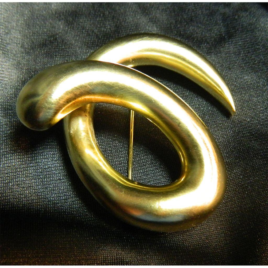 Gorgeous Sterling Silver Snake Brooch - Signed T Wada - Takashi Wada