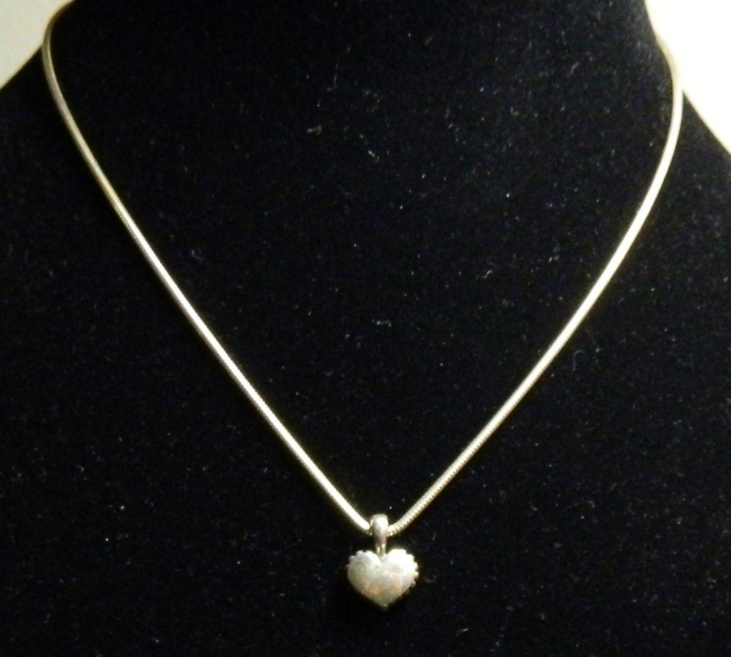 Lagos Caviar Beaded Heart Necklace - Sterling Silver