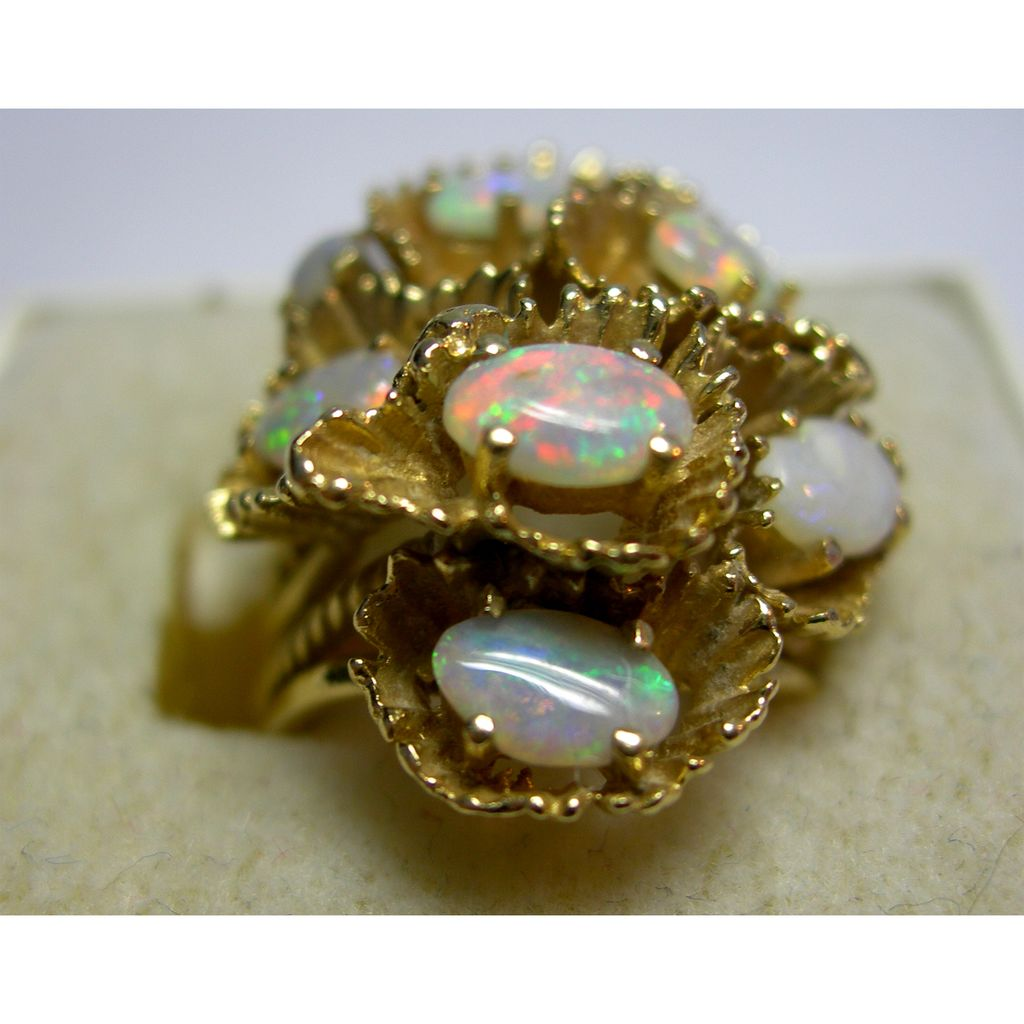 Substantial 14K and Opal Ring - Size 5 For The October Birthday Girl