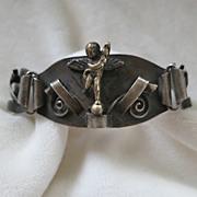 Unusual cupid angel bracelet made in Italy
