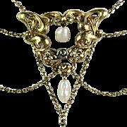 Elegant Bell Époque Festoon Necklace