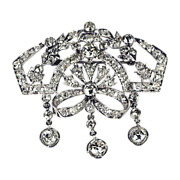 Divine Edwardian Platinum & Diamond Brooch Creation