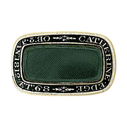 18K Georgian Memorial Brooch Dated 1812