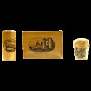 A Victorian Mauchlin Ware Collection