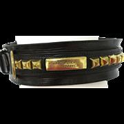 English Victorian Dog Collar--Leather & Brass