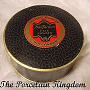 Vintage Max Factor Hollywood face powder box 1938