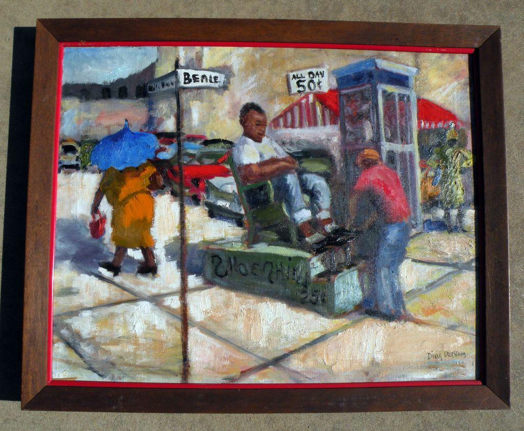 "Black Americana oo/c ""Shoeshine .25"" Beale St., Memphis Tenn., by Dixie Hampson Durham 1960"