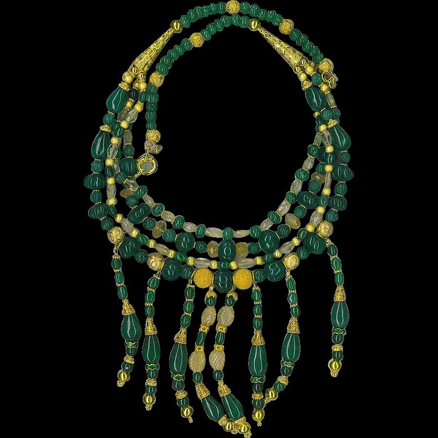 Genuine Emerald beads : Cleopatra (Emeralds!)