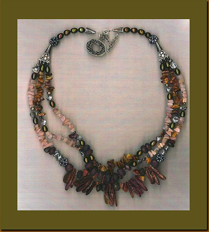 Spiny Oyster Sugilite beads :  Deep Sea Delight (with Cultured Pearls)