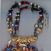 Native American Fetish Beads Lapis, TQ, Bone coral : Fetish Frenzy