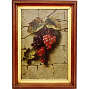 Samuel Marsden Brookes - Original Oil on Panel, Grapes (18 in x 12 in)