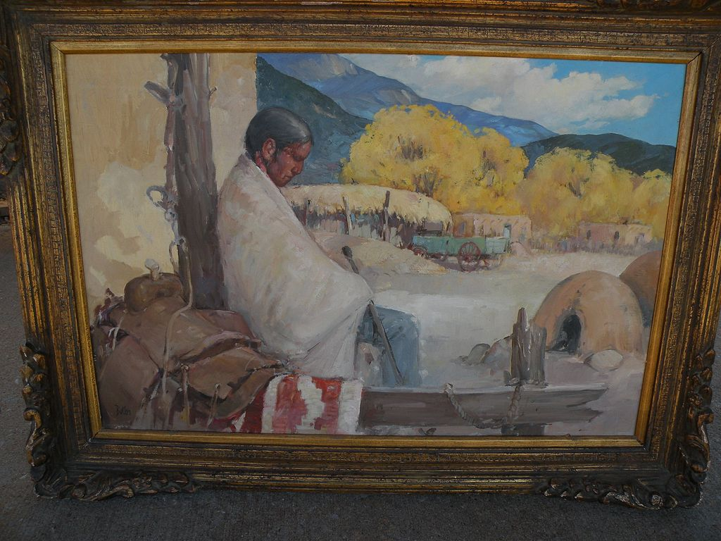 """""""Siesta"""" - Original Oil/Board Painting - by important New Mexico artist James Butler"""