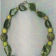 Vacoanite Hawaiian beads & Green Turquoise : Volcanic Treasure II
