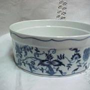 Blue Danube China Souffle Dish