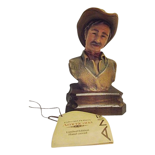 Anri Wood Carving The Drifter by Edward Rohn Limited Numbered Edition