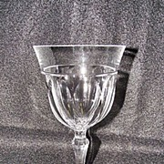 Josair Fine Crystal Empire Pattern Water Goblet