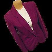 Pendleton Woolen Mills Womens Fuchsia Purple Blazer 12 100% Wool