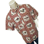 Reyn Spooner Limited 1997 Mele Kalikimaka Mens Hawaiian Shirt Xmas XL