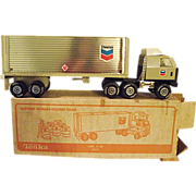 Vintage Tonka #2165 Chevron Delivery Semi Truck Trailer NIB New in Box Complete