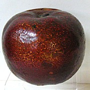 SALE Late 1800s Roseville Pottery Red Apple Bank, Scarce