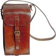 Antique Leather Ammunition Case, Cowhide, 19th Century
