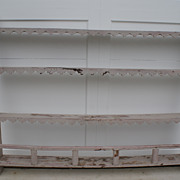 French Plate Rack, Original Blue Gray Paint