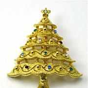 Vintage JJ Christmas Tree PIn Brooch