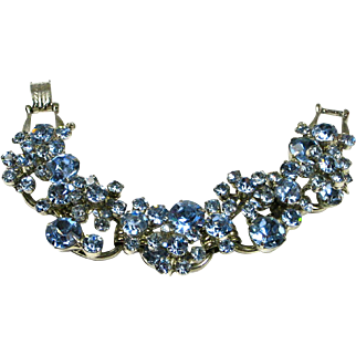 SALE Juliana D&E Blue Rhinestone Crystal Bracelet