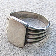 Sterling Signet Ring, c. 1950