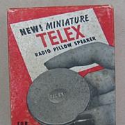 Bakelite Telex Mini Radio Pillow Speaker, 1950's